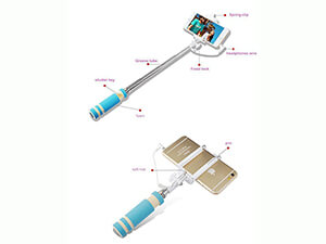 My-Podie Wired Selfie Stick- Blue