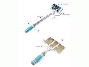 My-Podie Wired Selfie Stick- Blue