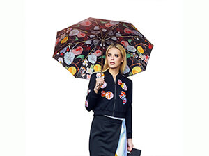 VILLASON Versailles Rose Compact Travel Umbrella