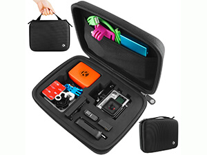 CamKix Carrying Case for Gopro Hero 4, Black, Silver, Hero+ LCD, 3+, 3, 2 and Accessories