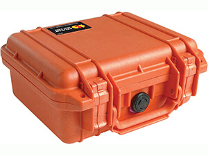 Pelican 1200 Case with Foam for Camera- orange
