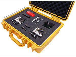 IBEX Cases - Yellow Watertight GoPro Hard Rugged Case
