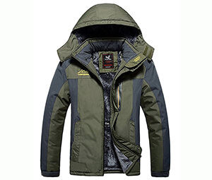 Lega Men's Jacket Fleece Hooded Outwear