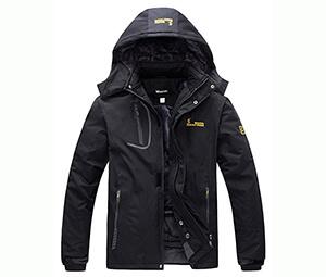 Wantdo Men's Fleece Windproof Ski Jacket