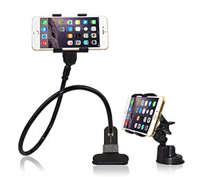 BESTEK 2-in-1 Universal Gooseneck Flexible Cell Phone Holder