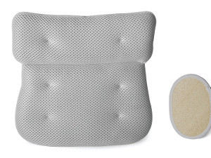 Luxury Plush Bath Pillow with 6 Extra Large Suction Cups