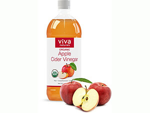 Viva Naturals Unfiltered Undiluted Non-GMO Organic Apple Cider Vinegar with the Mother