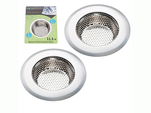 "2PCS Stainless-Steel Kitchen Sink Strainer - Large Wide Rim 4.5"" Diameter"