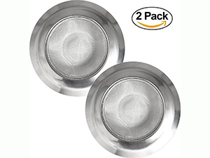 PCS Stainless Steel Kitchen Sink Strainers - Large Standard Size by Virtual Elements