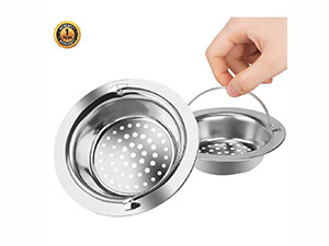 PChouse 2PC 18-10 Advanced medical Stainless-Steel Hand-held Kitchen Sink Strainer