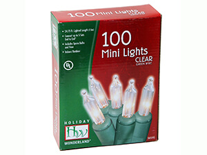 Holiday Wonderland 100-Count Clear Christmas Light Set
