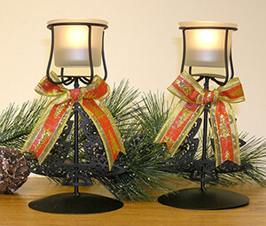 Christmas Tree Candle Holder Set of 2