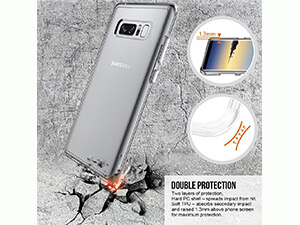 Samsung Galaxy Note 8 Case, Ubittek Crystal Clear Shockproof Hard PC and TPU Bumper Case