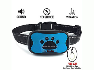 No Bark Collar S / M / L , No Shock Vibration & Sound Humane Training Device