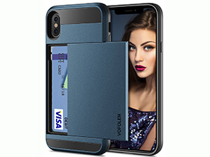 iPhone X Case, Vofolen Upgraded iPhone X Wallet Case Card Holder