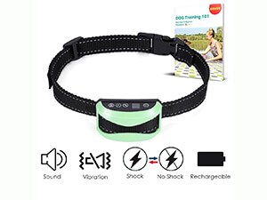 No Bark Collar, Slopehill Rechargeable and Rainproof Dog Training Collar