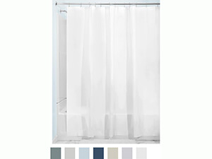 InterDesign PEVA 3 Gauge Shower Curtain Liner, white
