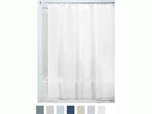 InterDesign PEVA 3 Gauge Shower Curtain Liner, white