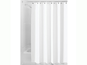 InterDesign Waterproof Mold and Mildew-Resistant Fabric Shower Curtain