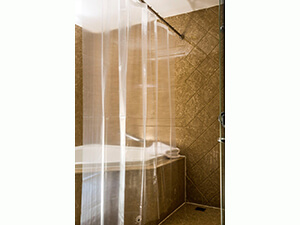 Caitlin White Clear PEVA Shower Curtain Liner
