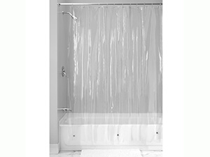 InterDesign Vinyl 4.8 Gauge Shower Curtain Liner