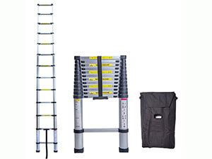 Idealchoiceproduct 12.5FT Aluminium Telescopic Telescoping Ladder Extension Steps