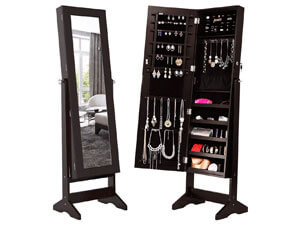 LANGRIA Lockable Jewelry Cabinet Jewelry Armoire