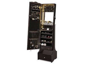 SONGMICS LED Jewelry Cabinet Lockable Jewelry Armoire