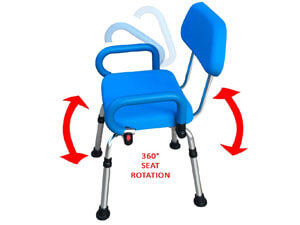 Platinum Health Revolution Pivoting Shower Seat