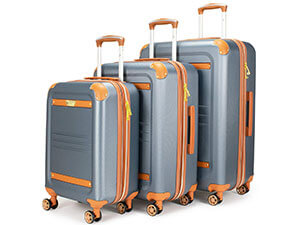 Italia Vintage 3 Piece Expandable Hard Spinner Luggage Set