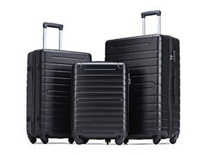 Flieks Luggage Sets 3 Piece Spinner Suitcase