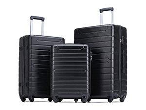 Flieks Luggage Sets 3 Piece Spinner Suitcase