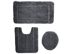 AmazonBasics 3 Piece Sculpted Bath Mat Set