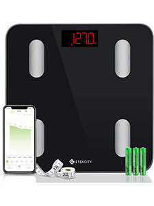 ETEKCITY DIGITAL WEIGHT SCALE, SMART BLUETOOTH BODY FAT SCALE