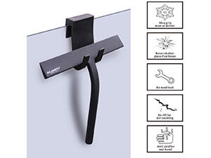 "Silicone Rubber Blade 9"" in Width & Hook Shower Window Squeegee"