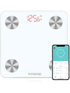 BLUETOOTH BODY FAT SCALE, SMART DIGITAL BATHROOM WEIGHT